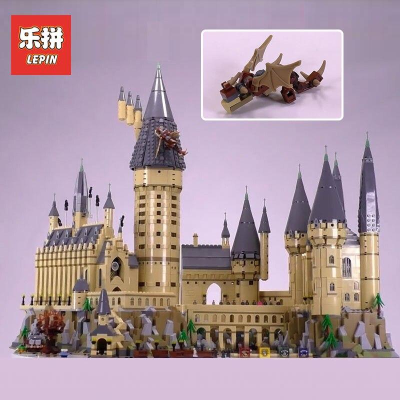 Лепин 16060 6742 шт. Hogwars замок устанавливает модель здания Наборы блоки кирпичи развивающие игрушки для детей Совместимые Legoing 71043