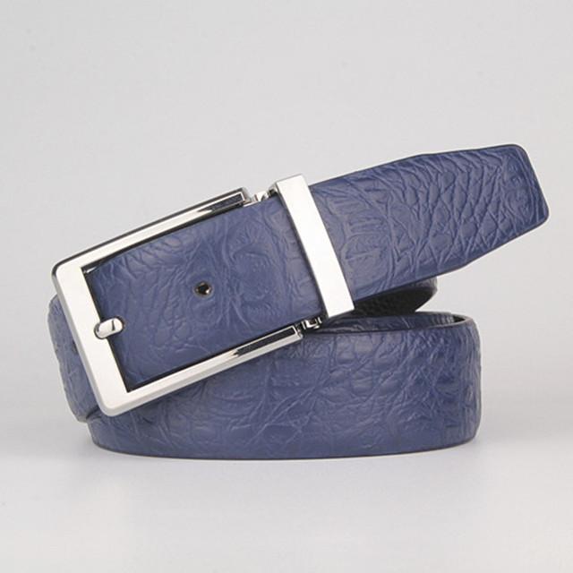 Nuevos Cinturones de Cuero genuino Para Los Hombres mens cinturones de lujo cinturones de diseñador hombres pantalones Vaqueros pantalones de Leopardo del grano del cocodrilo de alta calidad cinturones