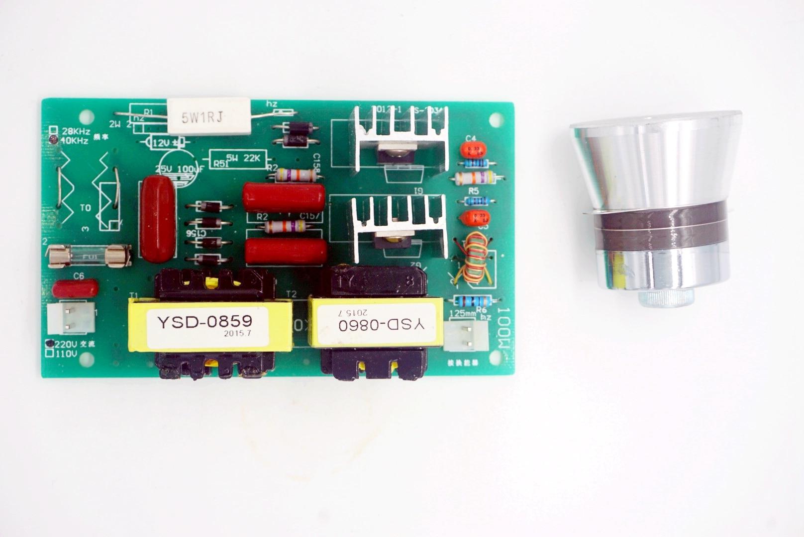 Nettoyeur ultrasonique de transducteur de nettoyage de 50 W 40 KHz + carte de conducteur de puissance 110VAC