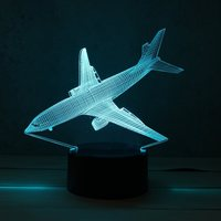 Aircraft Airplane 7 Color Acrylic LED 3D LED Night Light Toys Lamp Air Plane Night Touch
