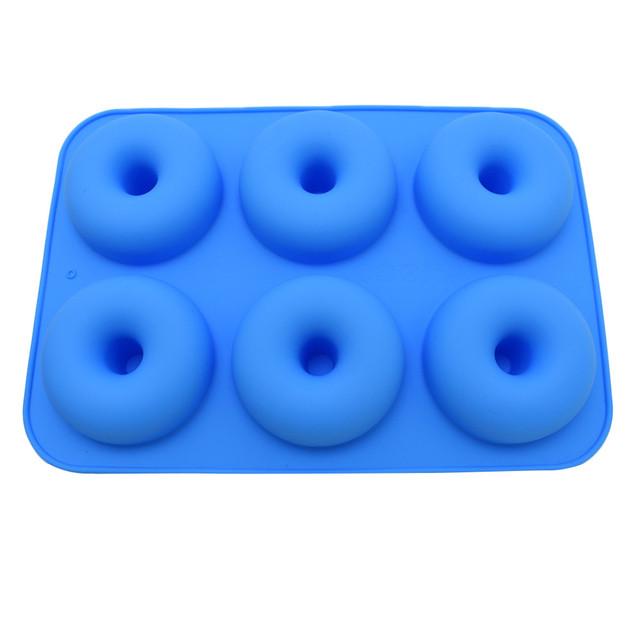 6 Hole Non Stick Silicone Donut Mold