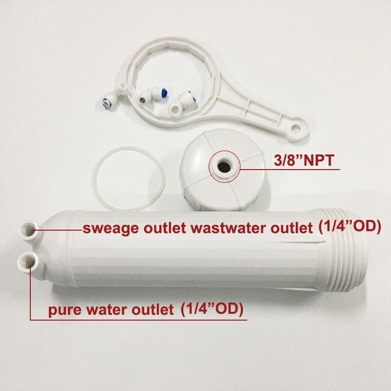 3012 RO Membrane Housing for 3012-400 gpd/3012-600gpd Reverse Osmosis  With All Fittings Reverse Osmosis Membrane Housing