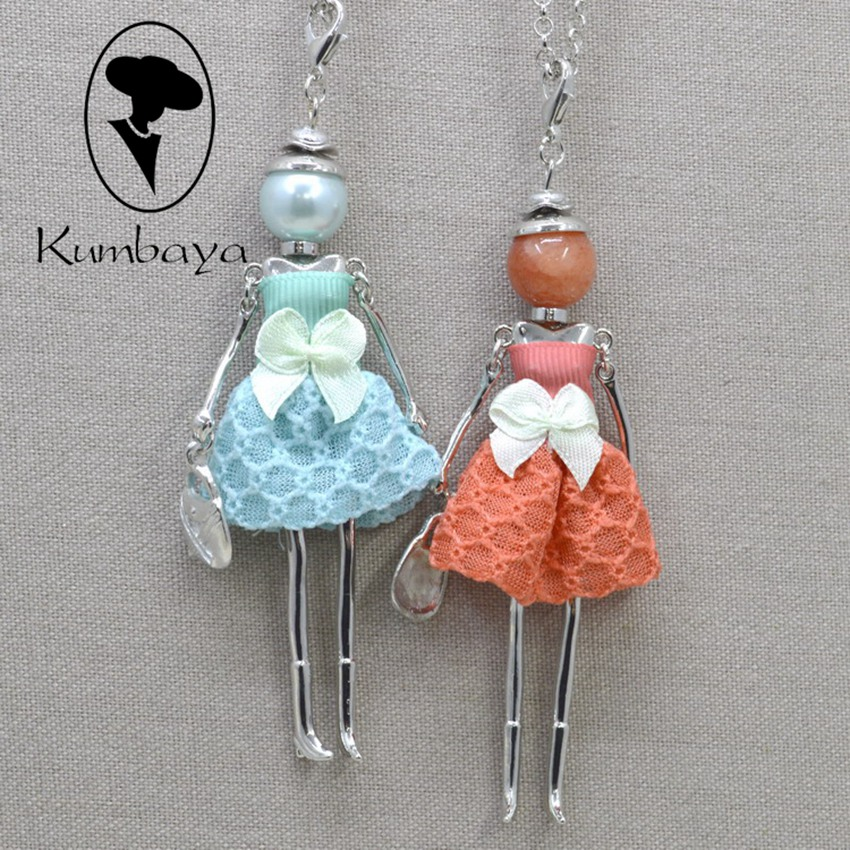 Fashion necklace for women! Cute Assorted Doll Necklace Women Jewelry Female Gifts Free Shipping Accessories Statements NS241