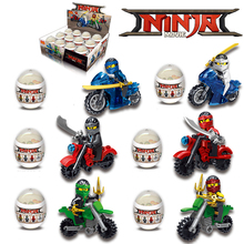 6pcs/lot Hot Motorcycle Building Blocks Bricks Toys Compatible legoingly Ninjagoed Ninja For Children DBP480