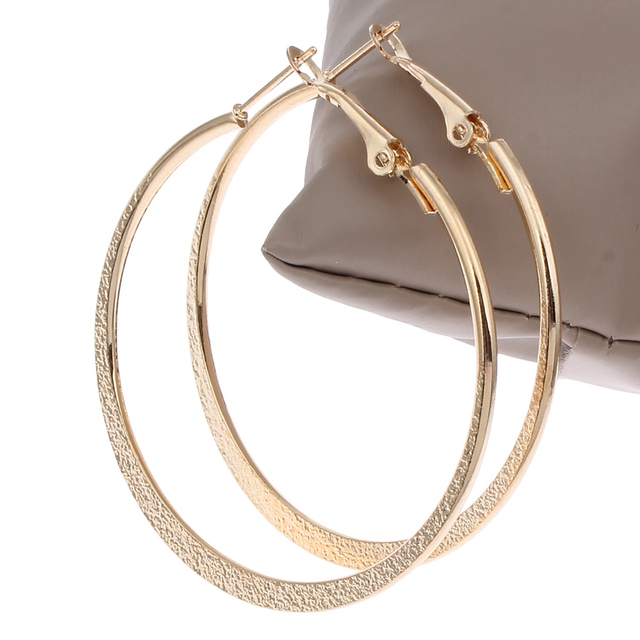 Hot Hoop Earrings Round Circle Celebrity Brand Punk Gold Color Loop For Women Jewelry