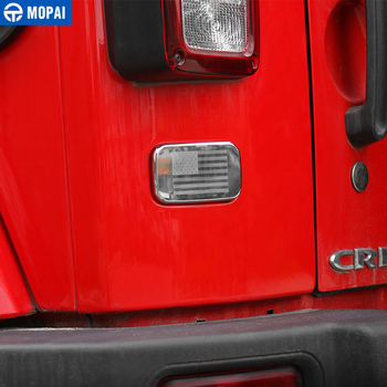MOPAI voiture extérieur arrière gauche feu arrière lampe couverture décoration voiture autocollants pour Jeep Wrangler JK 2007 Up voiture accessoires style