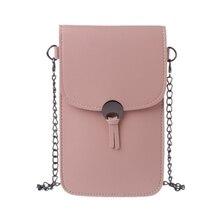 2019 New Transparent Shoulder Strap Wallet Purse Coin Phone Mobile Bag Case Touch Screen