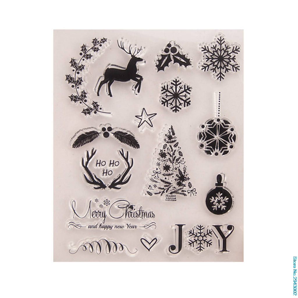 Dropshipping Decoration New Arrive Christmas Diy Silicone Clear Stamp Cling Seal