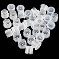 ITATOO 500Pcs Mixture Plastic Tattoo Ink Caps For Permanent Tattoo Makeup Eyebrow Makeup Container Cups Disposable Accessories
