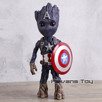Marvel Avengers Infinity War Tree Man Captain America PVC Figure Collectible Model Toy Gift