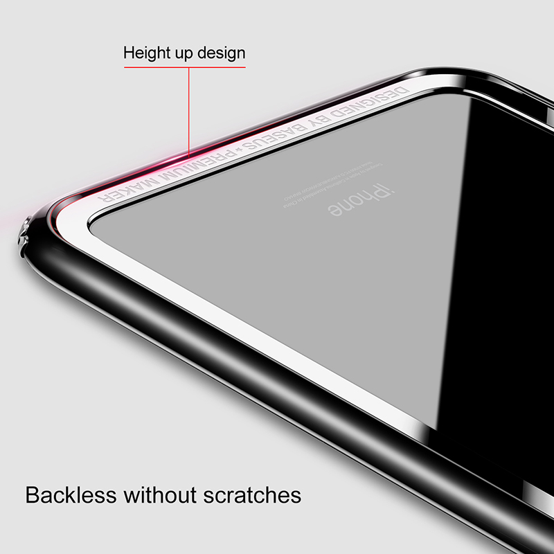 Baseus Antiklopf Stoßfall Für iPhone X PC + weiche TPU Border Rahmen ...