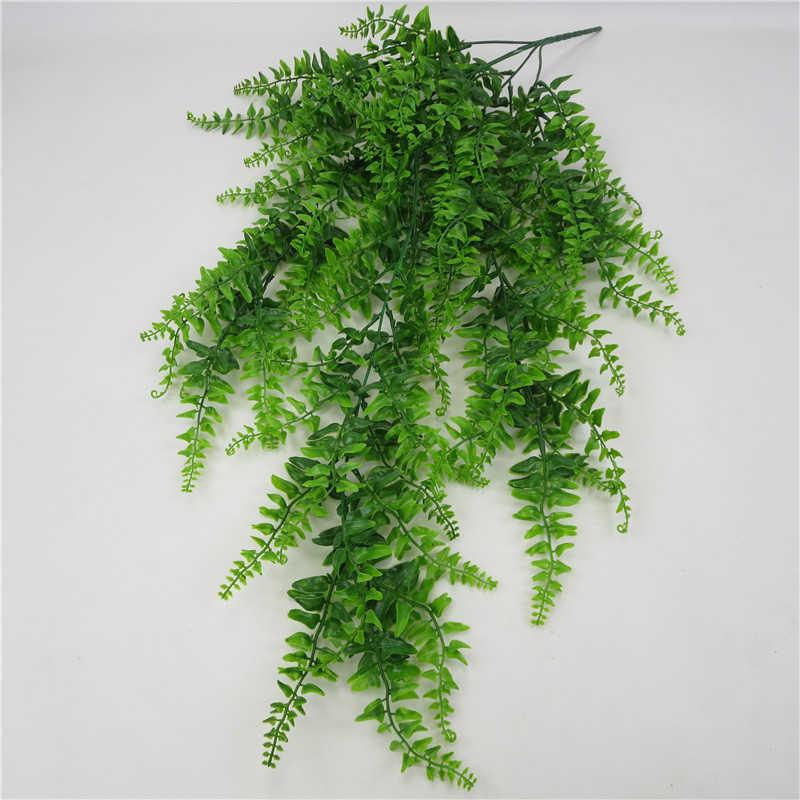 الاصطناعي يترك البلاستيك نبات الكرمة الجدار الشنق حديقة غرفة المعيشة نادي بار مزين وهمية يترك النباتات الخضراء اللبلاب P0.11