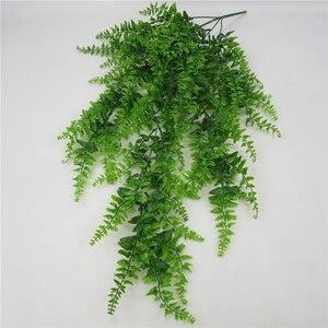 Image 3 - Hojas artificiales de plástico para decoración de pared, planta colgante de pared para jardín, sala de estar, Club, Bar, hojas de imitación, planta verde, hiedra P0.11
