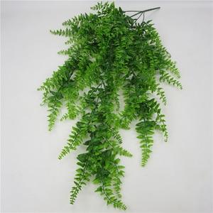 Image 3 - Yapay yapraklar plastik bitki asma duvar asılı bahçe oturma odası kulübü Bar dekore sahte yapraklar yeşil bitki sarmaşık P0.11