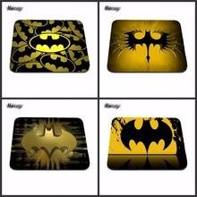 Vendendo Top Comics Superhero Batman Ouro Logotipo Personalizado Mouse Pad Moda Legal Almofada de Silicone para Jogo Do Rato Do Computador Portátil