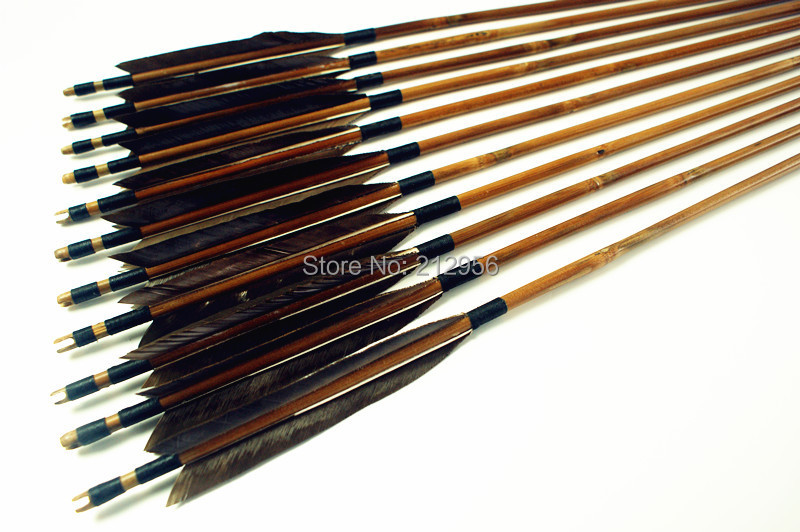 12PK Japan Traditional Gray Feathers Self Nock Bamboo Arrows For YUMI Bow YMGBT2 игрушка ecx ruckus gray blue ecx00013t1
