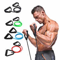 120cm Fitness Resistance Bands Elastic bands for Fitness Rubber Expander Pull Rope Exercise Tube Workout Bands Training Crossfit