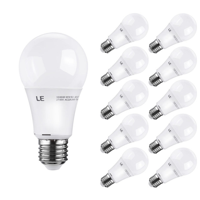 10 Pcs Lot Le Free Shipping 10w E27 A60 Dimmable Bulb 60w Incandescent Lamp Equivalent Warm White Bedroom Led Light