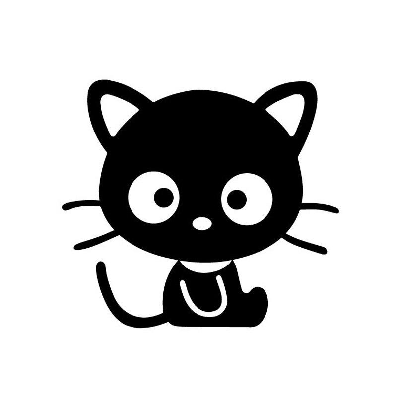 Оптовая продажа 5 шт., 10 шт., 12.5*11 см Черный кот Приключения Наклейки для автомобиля милый маленький черный Товары для кошек Мяу звезды животн...