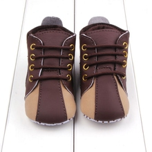 2017 Spring Autumn Infant Baby Boy Soft Sole PU Leather First Walkers Crib Shoes 0 18