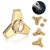 Three Corners Brass Hand Spinner For Autism And ADHD Finger Spinner Anti Stress Children Adult Focus