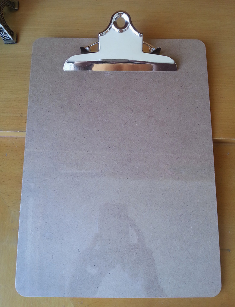 Hot sale A4 MDF clipboard portable wooden file clip board menu clipboard with butterfly clip office supplies