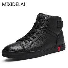 Мужские ботинки г. Ботильоны из натуральной кожи повседневные ботинки из коровьей кожи высокого качества на шнуровке осенне-зимняя мужская обувь, большие размеры 38~ 48