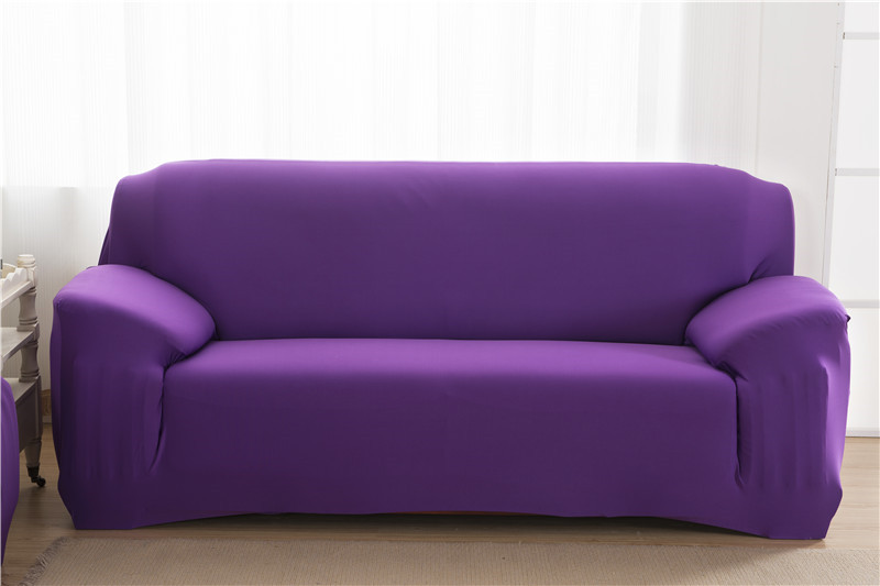Solid Color Elastic Couch Cover made of Stretchable Material for Singe to 4 Seated Sofa in Living Room 34