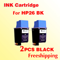 2x for hp26 ink cartridges compatible for HP 26 51626A black printer Designjet 200/220/600