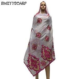 Image 3 - 100% COTTON SCARF african scarf muslim women pray scarf big size scarf for shawls BM730