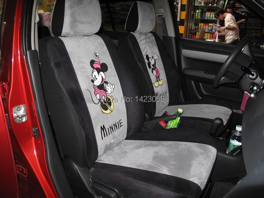 Happy Mickey Minnie Mouse Car Seat Covers Accessories For Most 5 Interior Toyota Corolla Camry In Automobiles From