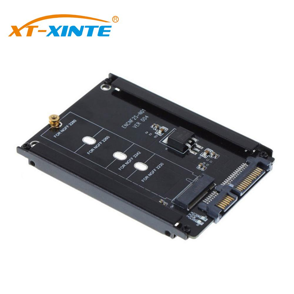 M.2 NGFF To SATA3 Adapter Card M KEY B Key + M Key SSD Converter M2 To 2.5 SATA 6Gb/s Power Connector Card With Enclosure Socket