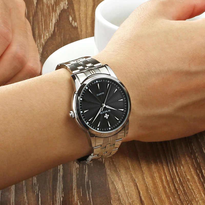 Montre à Quartz hommes 50 M étanche hommes montre WWOOR 8028 mis5 7T35 mouvement Simple montres avec bracelet de montre outil de fixation 2018