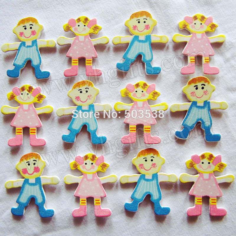 500PCS/LOT.Blue boy & Pink girl stickers,4.2x4.3cm.Kids toys,scrapbooking kit,Early educational DIY.Kindergarten crafts.