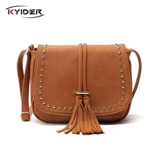 KYIDER New Tassel Women Bags Fashion Designer Ladies Shoulder Bag High Quality Crossbody for Messenger Handbags