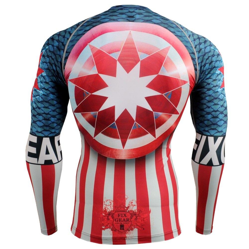 Мужская спортивная футболка Life on Track с 3D принтом и длинными рукавами для бега, термальная компрессионная рубашка для мышц, спортивный топ MMA - 2