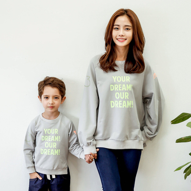 family matching outfits mom dad baby boy long sleeve