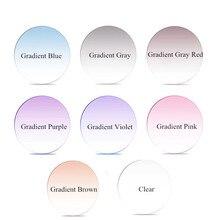 Chashma Thin Multifocal Optical Lens Free Form Prescription 1.67 Index Gradient Colored Lenses Progressive Tint Color Glass