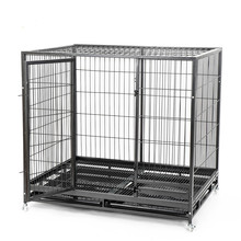 Dog cage, small and medium-sized large dog kennel indoor universal with toilet fence