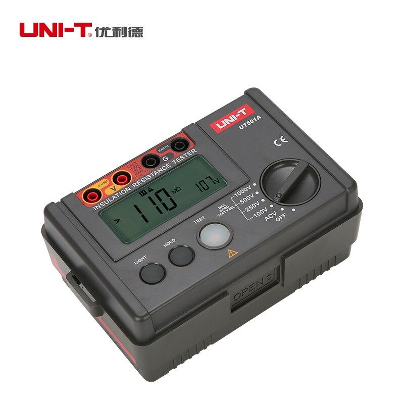 UNI-T UT501A сопротивление изоляции Мегаомметр вольтметр 1000 в тесты непрерывности er w/ЖК дисплей подсветка
