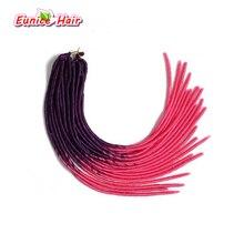 Цветные Ombre волос locs вьющиеся крючком плетения волос Синтетические афро Ombre Dreadlock переплетения красоты волос косы