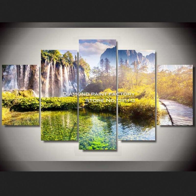 DPF рукоделие Алмазная вышивка 3d мозаика вышивка крестиком водопад узор наборы квадратные стразы ремесла рисунок