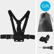 Cinta de chicote de fios no peito ajustável mochila montagem em cinto para gopro hero 8 7 6 5 4 sjcam eken h9 dji osmo acessórios da câmera ação conjunto
