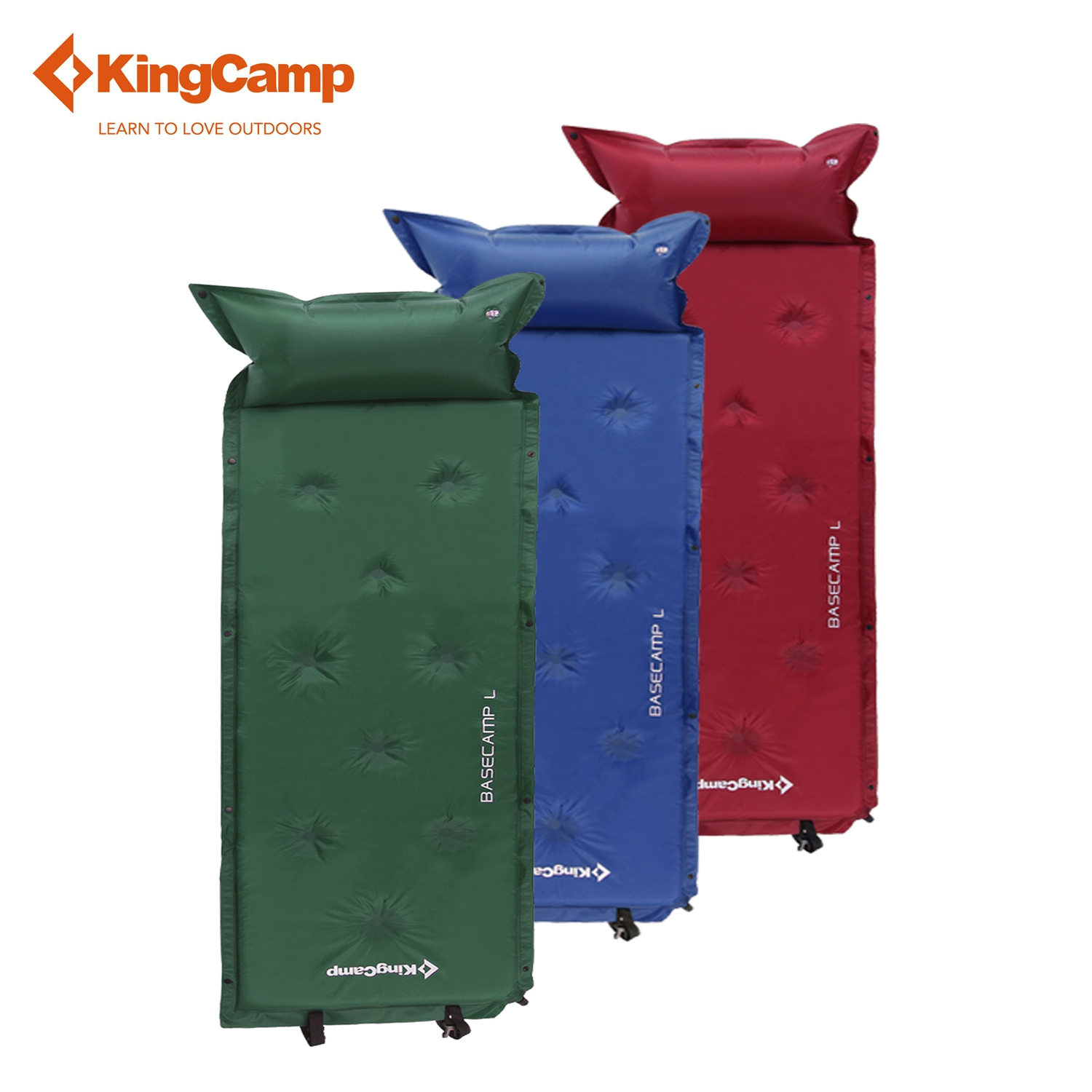 KingCamp 2016 Outdoor Camping Mat Self-Inflating Portable Outdoor Sleeping Pad with Attached Pillow for Hiking Backpacking kingcamp neck pillow