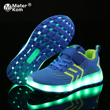 Size 25 37 USB Charger Glowing Sneakers LED Children Lighting Shoes Luminous Sneakers for Boys&Girls Illuminated Lighted Shoes