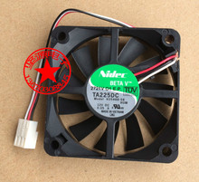 Free Shipping For Nidec H35466-58 DC 12V 0.05A 3-wire 3-pin connector 80mm 60x60x15mm Server Square Cooling Fan