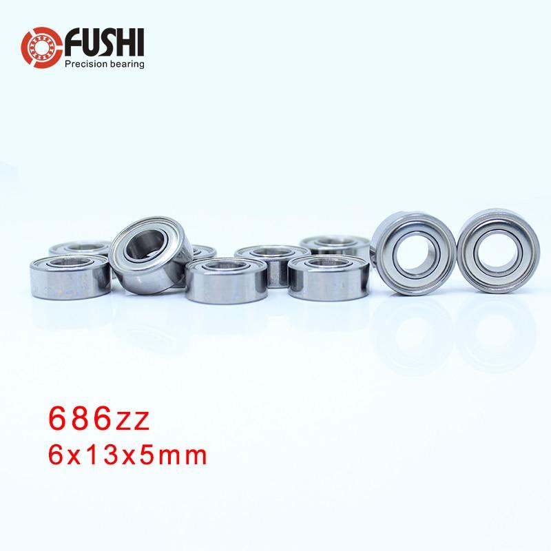 686ZZ ABEC 5 100PCS 6x13x5mm Miniature Ball Bearings 618 6ZZ EMQ Z3V3