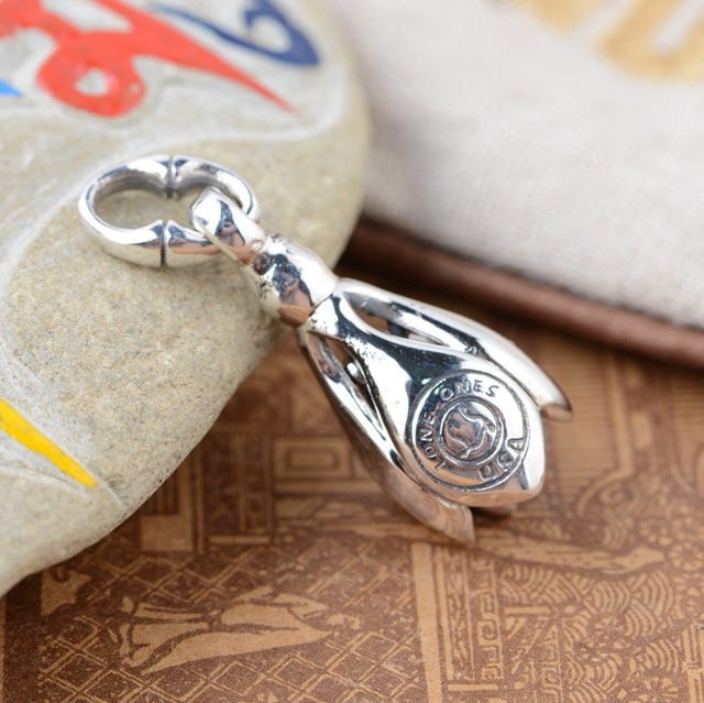 S925 style antique sterling silver pendant wholesale silver bell s925 style antique sterling silver pendant wholesale silver bell orchid female handmade diy pendant pendant aloadofball Image collections