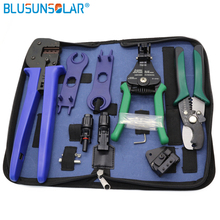 Multi tools Wire Crimper Tools Kit cable solar terminal crimper +Wire Cutter+ Wire Stripper+spanner wrench + solar connector