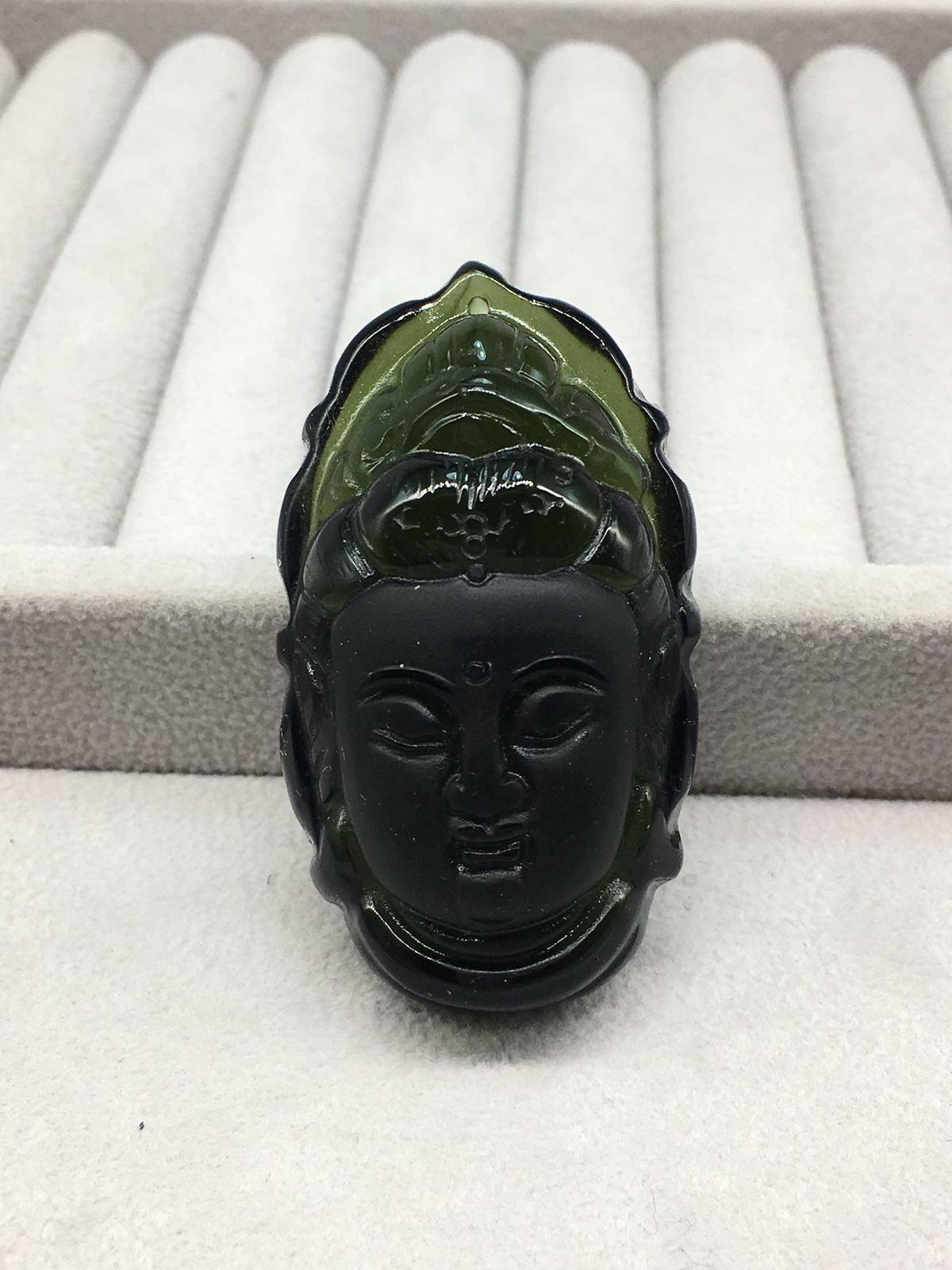 Quality Goods Natural Czekh Maitreya Buddha Head Pendant Bracelet Protect Safety Green Meteorite Pendant mcd200 16io1 [west] quality goods page 1